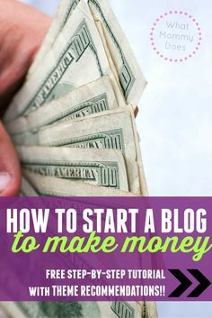 This post explains how to start a blog that's ready to MAKE MONEY! Not all blogs are created equal. You can start a blog on a FREE platform like blogger blogspot, but it's not ready to make the big money that some bloggers make (there are SOME exceptions,