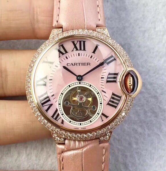 Tf Factory Cartier Ballon Bleu De Tourbillon Rose Gold Diamond