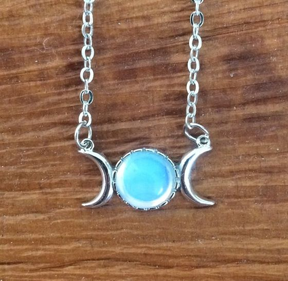 Image of Moon Phase Opalite Necklace