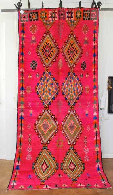 Another Moroccan carpet: this one a Vintage Moroccan Boujad carpet. I'm in love with the color and shape.
