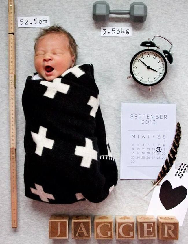 Super Cute!! Would be a great birth announcement idea too
