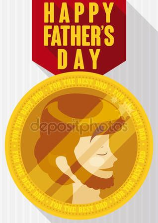 Gold Medal to the Best Dad in Father's Day