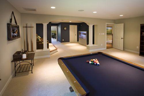 House crashing the big reveal basement basement - Benjamin moore swimming pool paint 042 ...