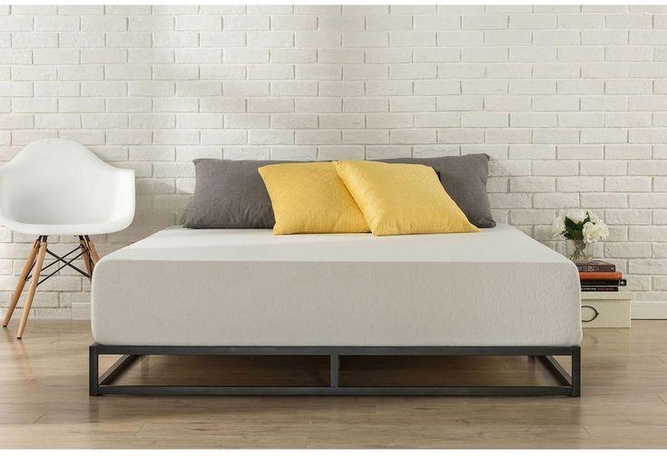 Modern 6 In Low-Profile Bed Frame Wooden Slats Platform For King Sized Mattress #ModernStudio
