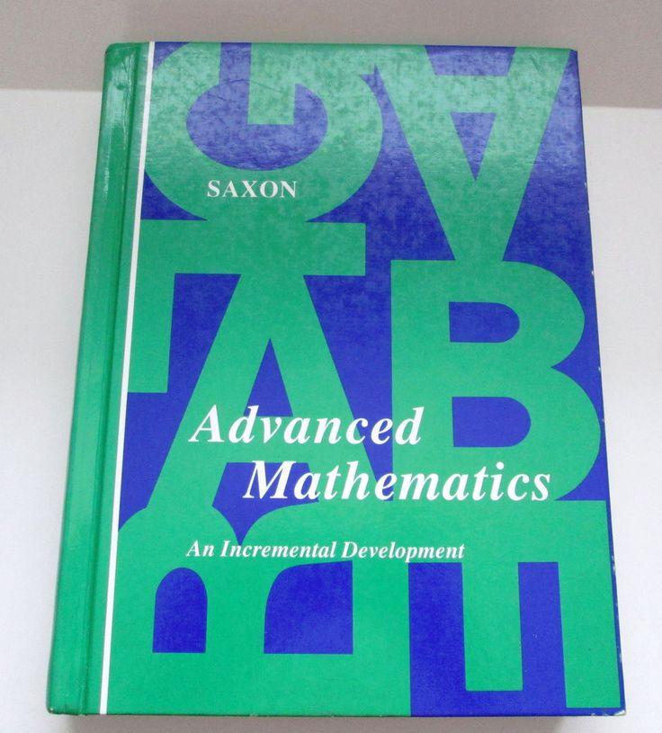 Saxon Advanced Mathematics 1989 Hardcover Student Textbook Homeschool #Textbook