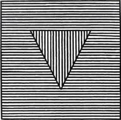 "Project - recreate this Sol Lewitt piece ""Triangle"" for above the bed."