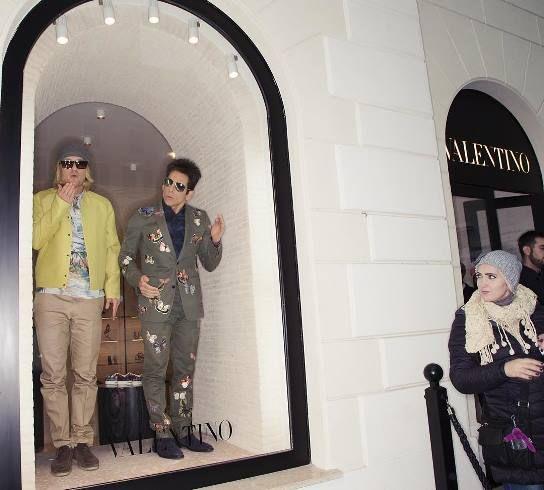 'Zoolander 2': Ben Stiller, Owen Wilson Pose As Live Mannequins Behind Valentino's Shop Windows - http://www.movienewsguide.com/zoolander-2-ben-stiller-owen-wilson-pose-live-mannequins-behind-valentinos-shop-windows/151353
