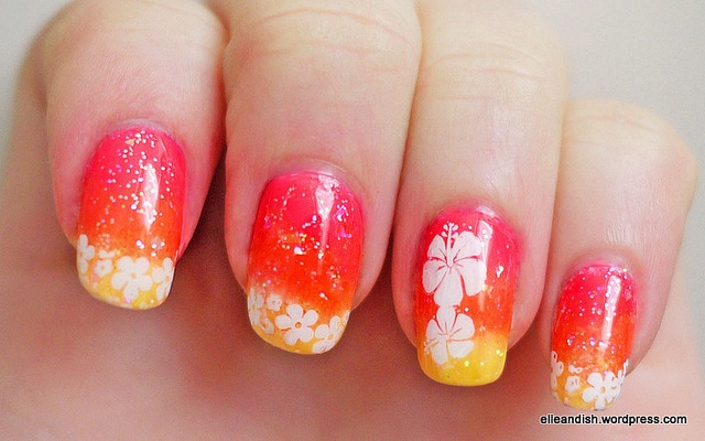 Best 25+ Hawaiian nail art ideas on Pinterest