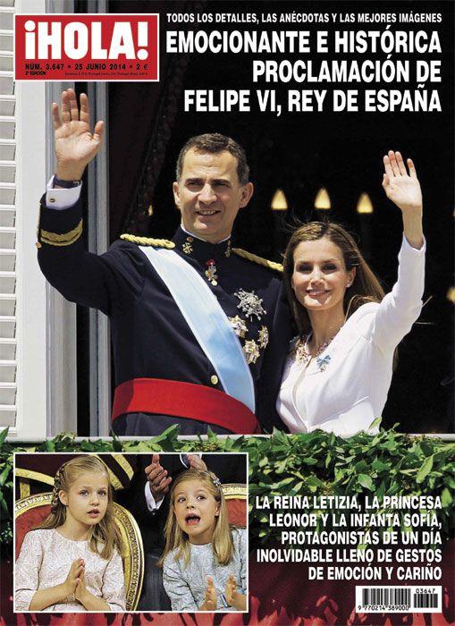 En ¡HOLA!: Emocionante e histórica proclamación de Felipe VI, Rey de España  #FelipeVI #realeza #royalty