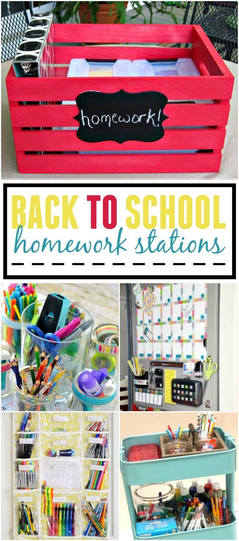Back to School Homework Stations
