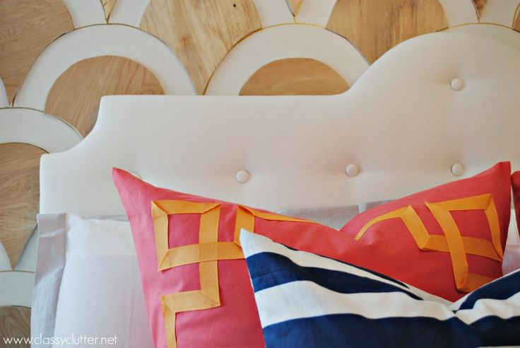 Diy modern tufted headboard classy girls and tutorials for Modern headboard diy