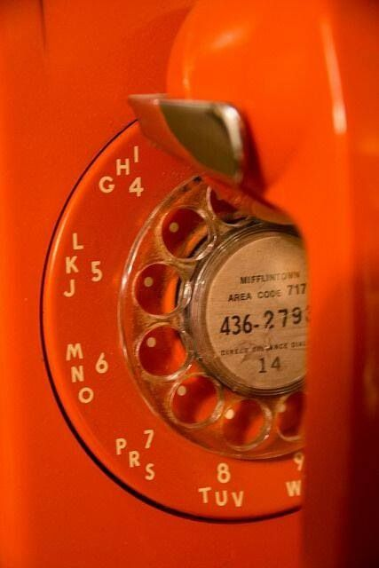 orange.quenalbertini: Vintage telephone close up