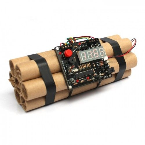 Start your morning with a bang! Awesome Bomb Alarm Clock. #fathersdaygiftideas #giftsformen #fathersday #gifts #dad