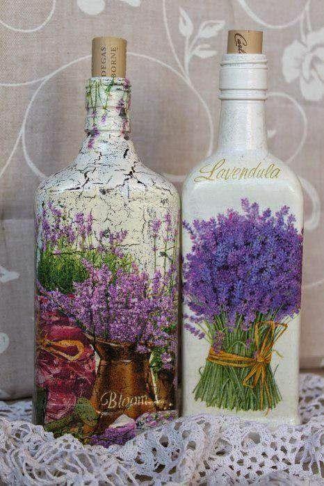 Lave bien las botellas para retirar las etiquetas          Aplique una base        Después de que el primero seque, pinte toda de...