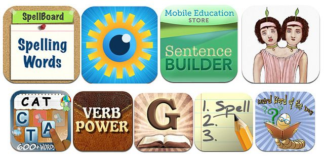 Picture of apps for English language by Pearson K-12 Technology, via Flickr