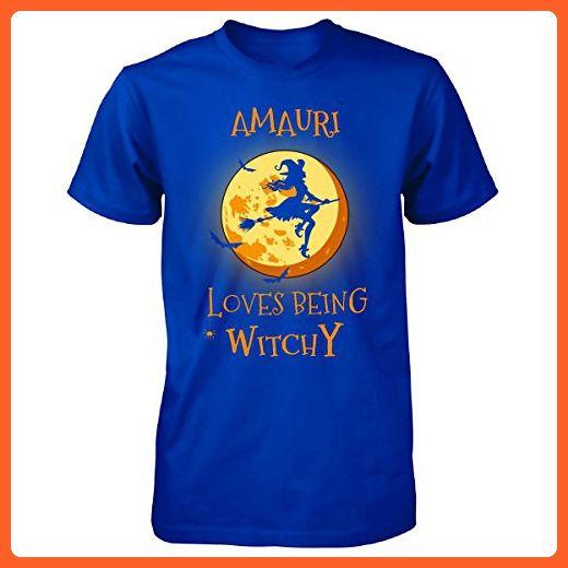 Amauri Loves Being Witchy. Halloween Gift - Unisex Tshirt Royal 4XL - Holiday and seasonal shirts (*Partner-Link)