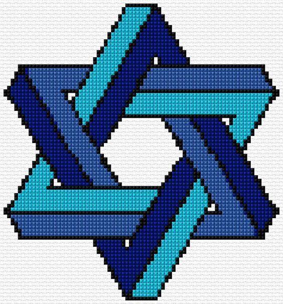 Cross Stitch | Star of David xstitch Chart | Design: