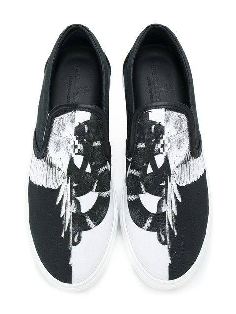 ed7bc7200f Shop Marcelo Burlon County Of Milan Snakes wings slip-on sneakers ...