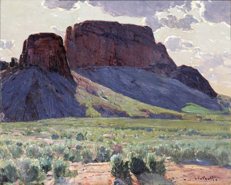 Hanson Puthuff (1875-1972). Drama of Light. Oil on Canvas. 24 x 30 in.