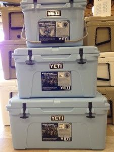 #new blue YETI coolers
