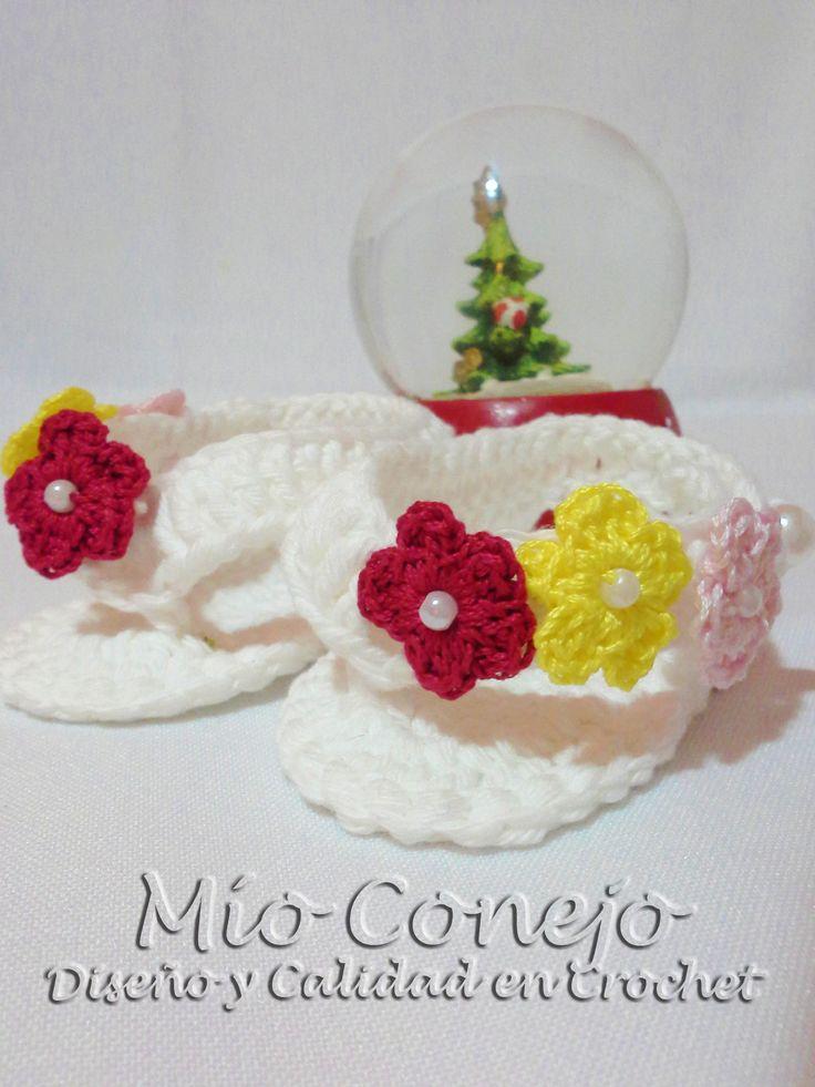 Sandalias para bebés recién nacidas. Mío Conejo www.facebook.com/mioconejo