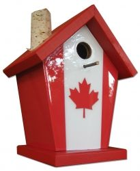 Canada Flag Bird House