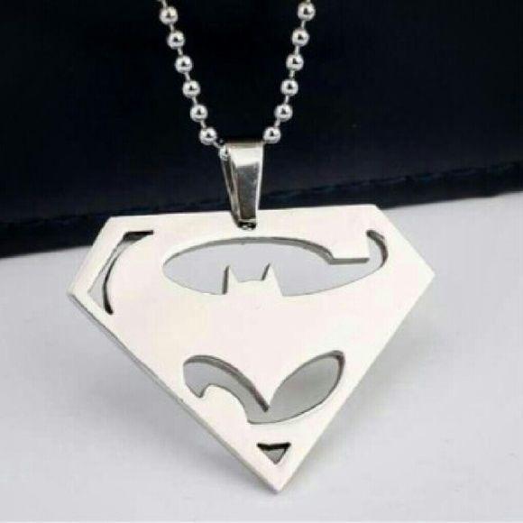 Coming soon batman vs superman Silver batman vs superman necklace. Measures 50 cm. My price is firm. Jewelry Necklaces