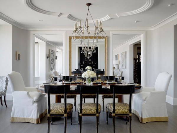 33 Ceiling Design Ideas Beautiful Ceiling With Chandelier Above Dining Table In Luxury Dining Room