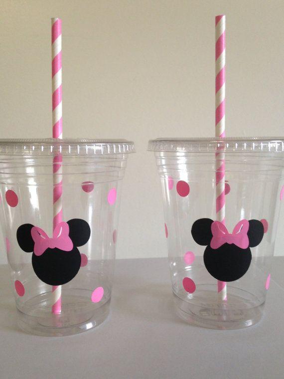 Vasos descartables Minnie Mouse.