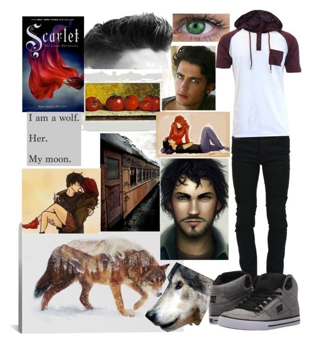"""""""Wolf - The Lunar Chronicles"""" by regulus-star ❤ liked on Polyvore featuring NOVICA, Marcelo Burlon, DC Shoes, men's fashion and menswear"""