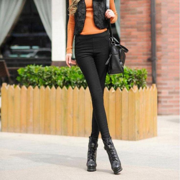 2016 new Korean version of the winter plus velvet thickening women wear large size pencil warmth waist leggings free shipping