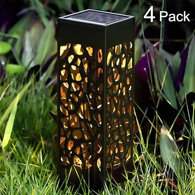 Solar Led Pathway Lights Outdoor Landscape Path Lights Sidewalk Lamp 4 Pack Lw Artdeco Solar Landscape Lighting Outdoor Solar Lights Solar Lights