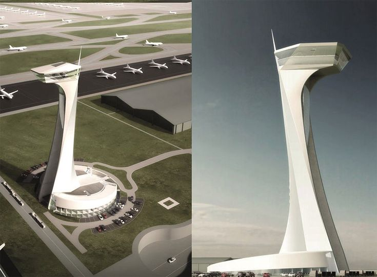 World's Top Designers Compete for the Airport Traffic Control Tower of the New Istanbul Airport Grimsaw in collaboration with Nordic design tried to harmonize the tower design with overall design of the airport and terminal building.