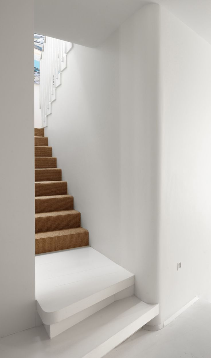 Rounded Edge Step Paddington Terrace House By Luigi Rosselli Architects