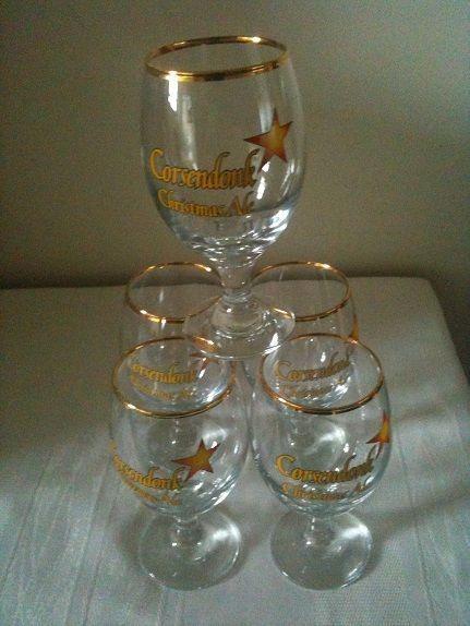 For Sale: 5 Beer glasses: Five original glasses Corsendonk Christmas Ale...