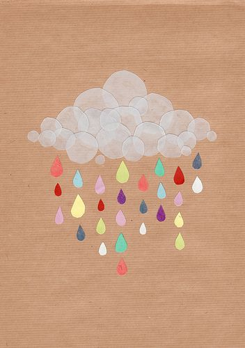 """it's raining, it's pouring"": Ideas, Inspiration, Color, Art, Illustration, Rainbow, Crafts, Kid"
