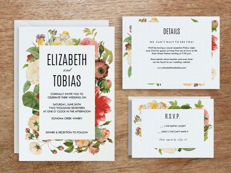 Best Printable Wedding Invitations Images On