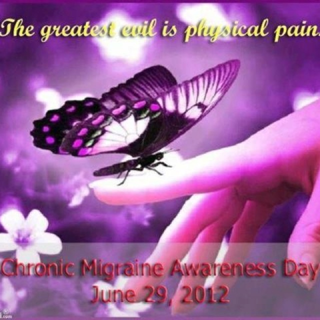 Physical Pain Chronic Migraine Awareness Day flyer
