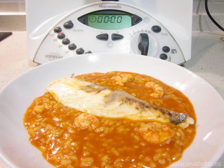 Arroz meloso Thermomix: un arroz estupendo similiar al arroz meloso de caldero típico de la zona del mediterráneo. Pruébalo te va a encantar.