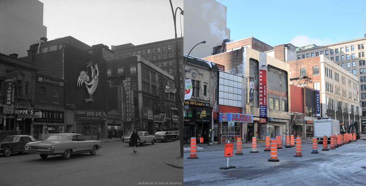 https://flic.kr/p/qtCDhw | 1965-2014 | Une vue de la rue Peel depuis la rue du Square Dorchester.  Source : Archives de la Ville de Montréal, VM94-A0188-004  © Tous droits réservés : Guillaume St-Jean  Maintenant via Facebook : Montréal Avant-Après. www.facebook.com/pages/Montr%C3%A9al-Avant-Apr%C3%A8s/607...