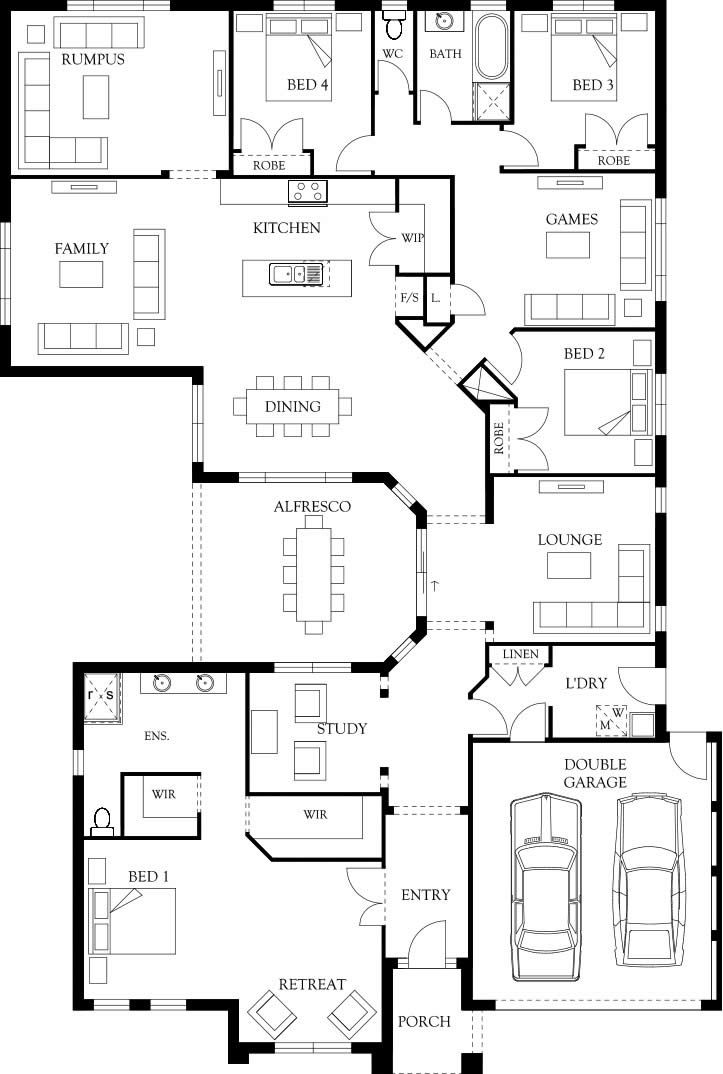 Sandhurst 36 Floor Plan | Eden Brae Homes. With some changes