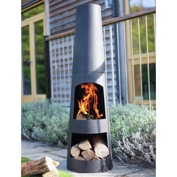 Buy La Hacienda Circo Chiminea With Log Store Chimineas And Wood Burners Argos In 2020 Chiminea Wood Burner Hacienda