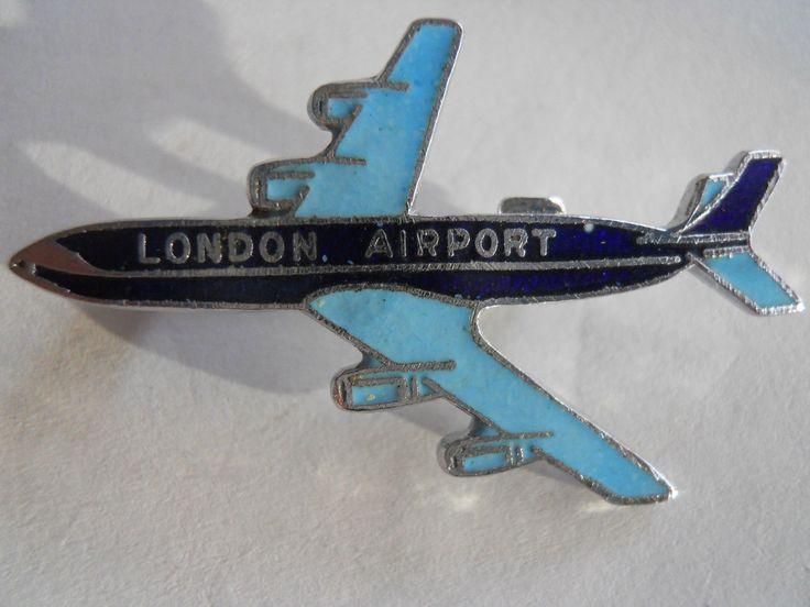 LONDON AIRPORT AIRPLANE vintage collectable enamel pin badge | eBay