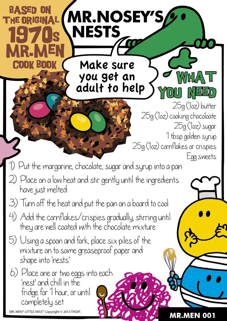 Mr Men Kids Baking competition, follow the recipe cards and submit your photos