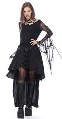 Rings of Power Gothic Alternative Skirt #goth #gothic #gothicskirt #gothskirt