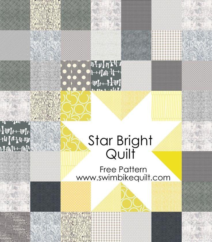 Star Bright Quilt Free Pattern + Giveaway - Swim, Bike, Quilt!