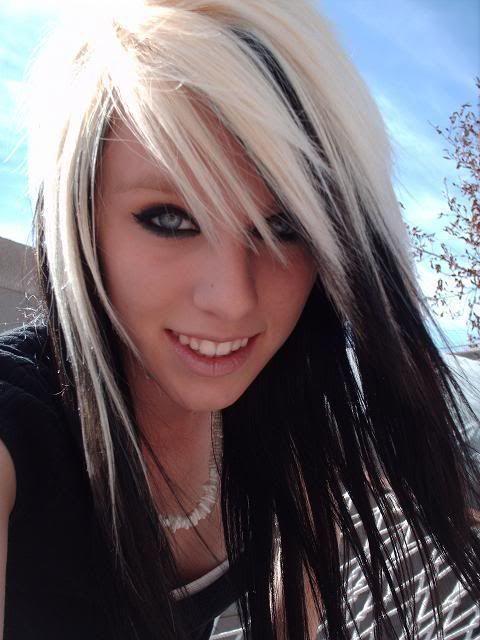Pleasant 1000 Ideas About Black With Blonde Highlights On Pinterest Short Hairstyles Gunalazisus