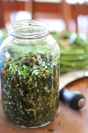 Mélange pour conserver les fines herbes dans le sel
