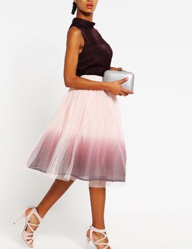 mint&berry Spódnica trapezowa soft pink