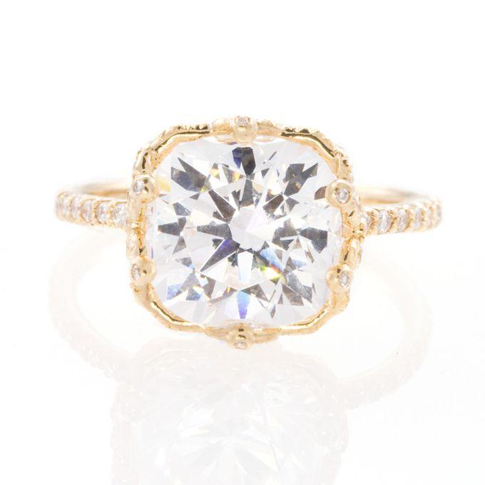 """Ellen"" Gorgeous Engaged round-cut diamond yellow gold engagement ring, $7,500, Erica Courtney"